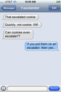 cookie escalator